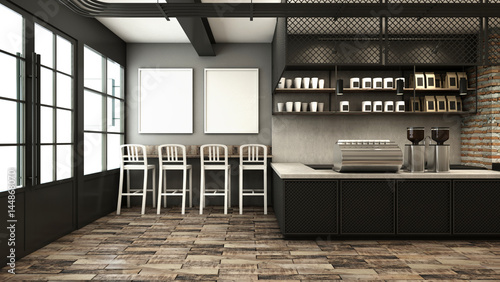 Quot Cafe Shop Amp Restaurant Design Modern Loft Counter Steel