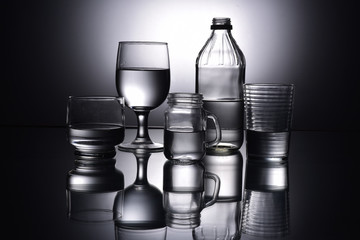 Black and White Glass