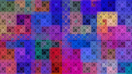 Colorful pattern fractal background