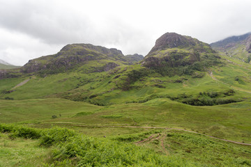 Valley in spring in the Scottish Highlands.