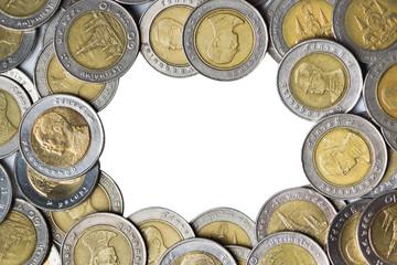 Thai baht, Coins frame