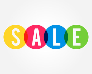 colorful Sale  design concept, banner design strategy