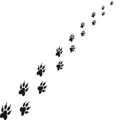 Footprints of animal paw. Abstract vector. For web and mobile applications, illustration design, brochure, banner, presentation, concept poster, cover.
