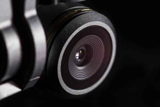 Linse und Kamera der Mavic Pro in Makro Aufnahme