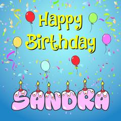happy birthday sandra