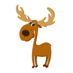 happy cartoon moose