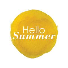Watercolor Summer vector