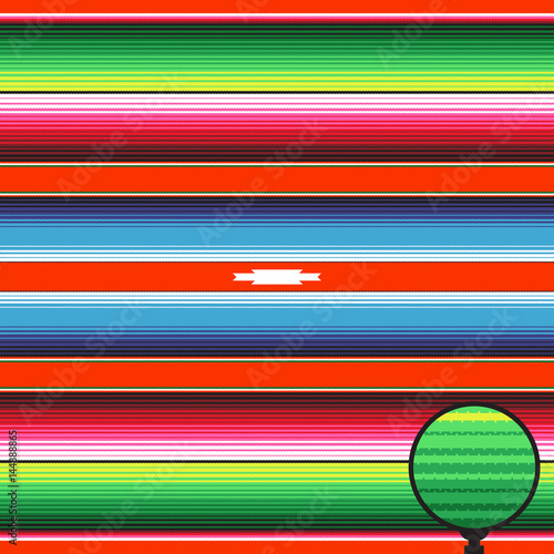 """Mexican Blanket Stripes Seamless Vector Pattern. Red Blue ..."
