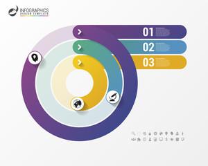 Pie Chart Circle Graph. Modern Infographics Design Template