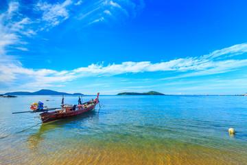 Boat on the shore of the Andaman sea. Thailand. Phuket.
