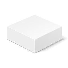 White Product Cardboard Package Box. Illustration Isolated On White Background. Mock Up Template Ready For Your Design. Vector EPS10