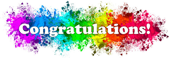 Paint Splatter Words - Congratulations