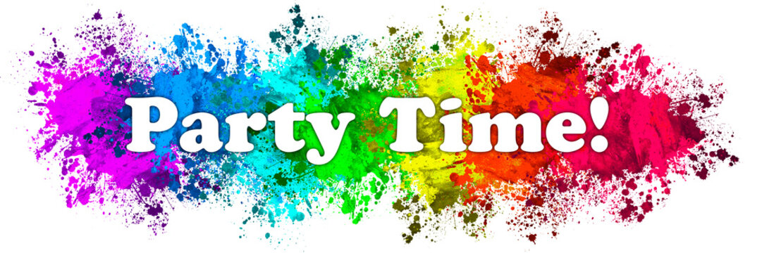 Paint Splatter Words - Party Time