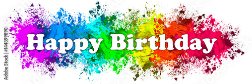 paint splatter words happy birthday stock photo and royalty free