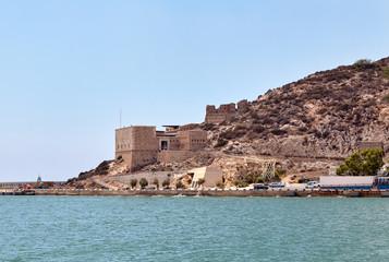 The Christmas fort. Cartagena, Spain.