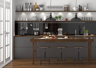küche, küchenzeile, offene küche, moderne Einbauküche
