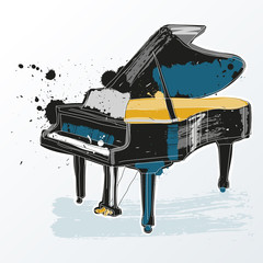 piano instrument musical icon