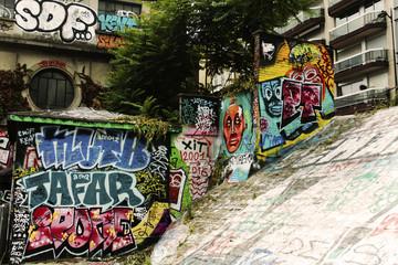 The graffiti wall from Paris.
