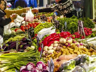 Naschmarkt Gemüsestand, Österreich, Wien, 5. Bezirk, Naschmark