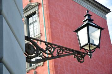 Stockholm,stylowe oświetlenie ulic.