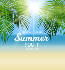 Summer Sale Background Vector Illustration