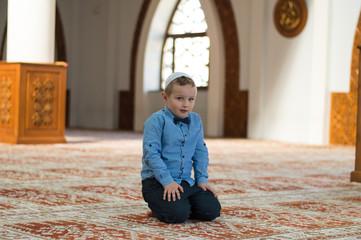 Muslim child in mosque