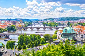 Acrylic Prints Prague Bridges of Prague and the River Vltava Czech Republic