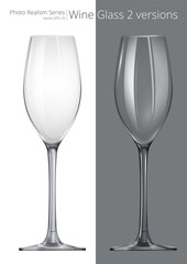 Wine Glass. Vector of Wine Glass. 2 different transparency and design.