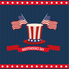 independence day usa national celebration vector illustration eps 10