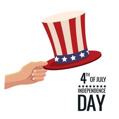 united states independence day hat symbol poster vector illustration eps 10