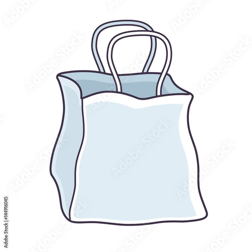 white blank paper shopping bag template isolated stock image and