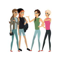 young adults having a conversation icon image vector illustration design