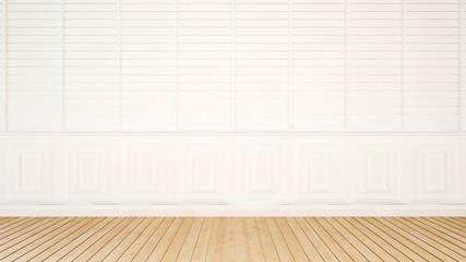 empty room white tone for artwork - 3d rendering
