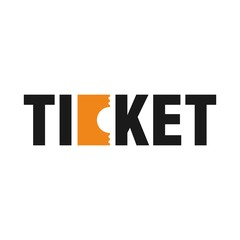 ticket logo vector