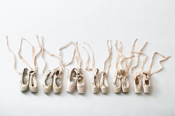 Ballet shoes pointe isolated