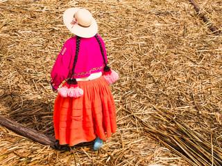 Woman in Reed Islands, Peru