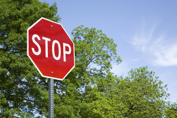 Stop Sign in a Horizontal Format