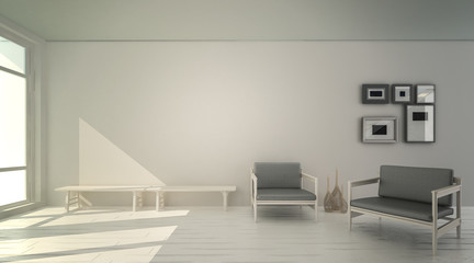 Interior of living room ,3D rendering