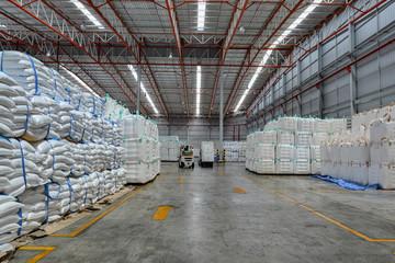 warehouse storage cargo waiting for shipment