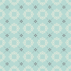 Monogram Seamless Vector Pattern. Modern stylist background.