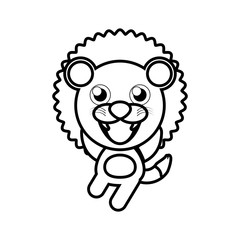 cartoon lion animal outline vector illustration eps 10