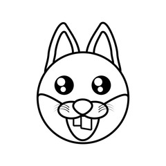 fox face animal outline vector illustration eps 10