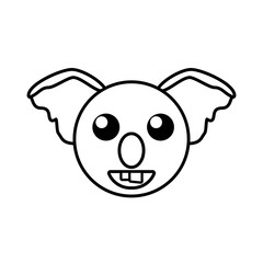 face koala animal outline vector illustration eps 10