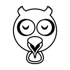 outline owl head animal vector illustration eps 10