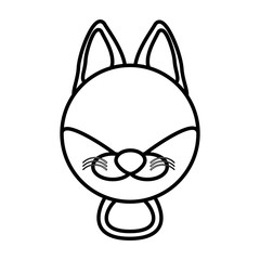 outline fox head animal vector illustration eps 10