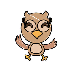 drawing owl animal character vector illustration eps 10
