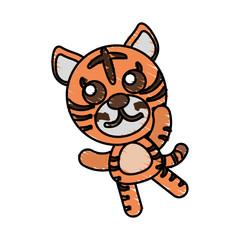 drawing tiger animal character vector illustration eps 10