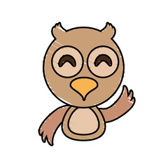 draw owl animal comic vector illustration eps 10