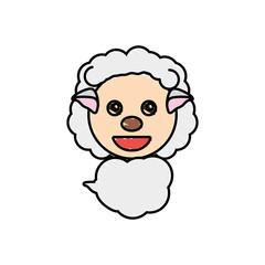 draw sheep animal comic vector illustration eps 10