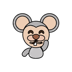 draw mouse animal comic vector illustration eps 10